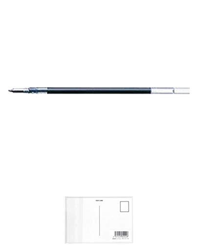 ゼブラ ジェルボールペン替芯 JK-0.4 ブルーブラック RJK4-FB 【× 4 本 】 + 画材屋ドットコム ポストカードA