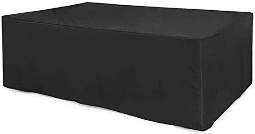 AXAA Juego de Fundas para Muebles de Jardín 260x135x82cm, Rectangular Impermeable, Transpirable, Cubierta de Rattan con Protección UV, para Patio, Exterior, Protector de Muebles de Jardín.- negr