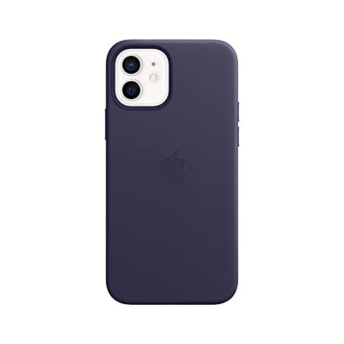Apple Leder Hülle mit MagSafe (für iPhone 12 | 12 Pro) - Dunkelviolett