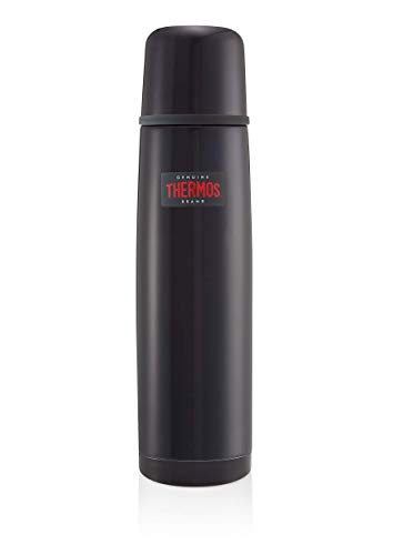 Thermos Edelstahl-Thermosflasche, leicht und kompakt, 1Liter, Mitternachtsblau