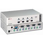 Equip e'quip Desktop KVM Switch USB 1.1 / PS / 2 KVM Switch 4 -> 1 PS / 2 - USB