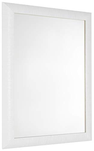 GaviaStore Specchio Moderno da Parete di altissima qualità – Elise - 70x50 cm - arred casa Art Home Decor Soggiorno Modern Sala paret Camera Bagno Cucina Ingresso (Bianco)