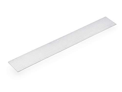 Wrasenschutzblech 1, L 600 mm, silberfarbig alufarbig