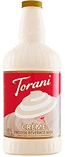 R. Torre & Company Creme Frozen Beverage Base, 64 Oz. (03-0874) Category: Drink Syrups
