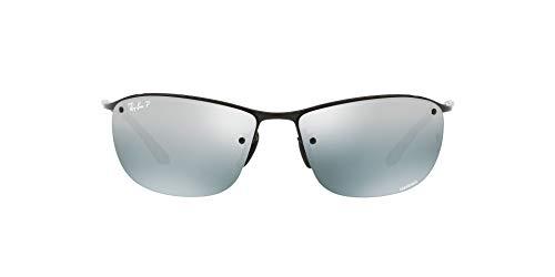 Ray-Ban Junior Herren RB3542 Chromance Brillengestelle, Schwarz (Shiny Black/Bluemirrorsilverpolar), 63
