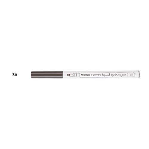 3 couleurs stylo à sourcils crayon à sourcils étanche crayon anti-taches maquillage sourcils liquide sourcils Enhancers Beauty Tool - 3# gris foncé