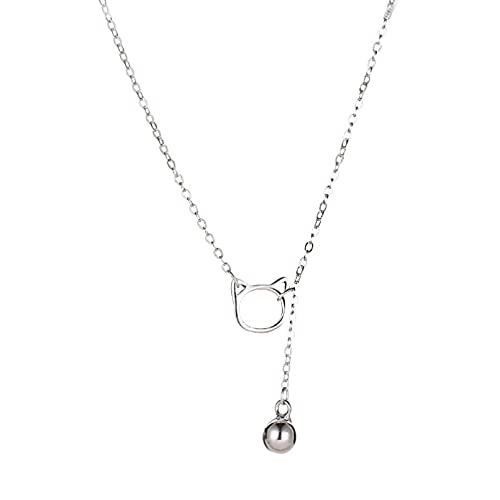 N/A Halskette Halskette weibliches Netz rot einfache Mode Schlüsselbein Kette Licht Luxus Nische Katzenglocke Kurze Halskette Damen-Halskette Geschenk für Mutter
