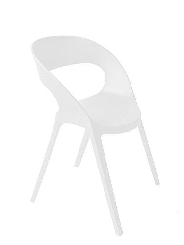 Resol gruppo Set di 2 sedie di design per interni, esterni, giardino
