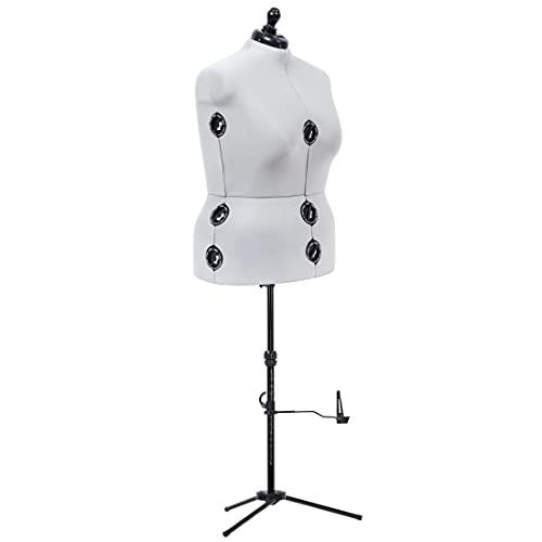 Dritz Twin-Fit verstellbare Kleiderform, volle Figur, grau