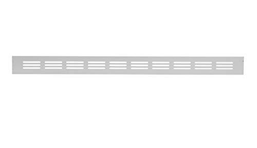 40x500mm Aluminium Lüftungsgitter Silber Stegblech Lüftung Alu-Gitter Gitter Möbelgitter Möbellüftung