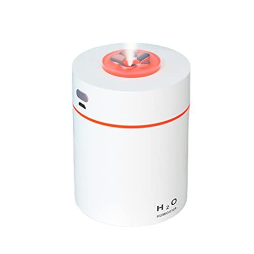 Moanyt - Mini umidificatore da scrivania con USB, umidificatore a nebbia fredda, per camera da letto, ufficio, auto, viaggio, con luci a LED, 4-6 ore, spegnimento automatico (240 ml)