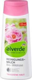 alverde NATURKOSMETIK Reinigungsmilch Wildrose, 1 x 200 ml