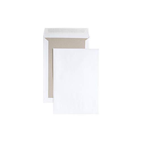 Eurokuvert Versandtaschen mit Papprückwand, DIN B4, 125 g/qm, ohne Sichtfenster, selbstklebend, weiß, 125 Stück