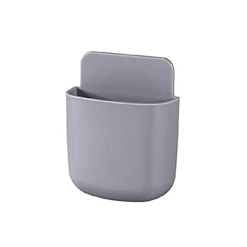 Caja de almacenamiento de control remoto Montado en pared Aire acondicionado TV Tecla Teléfono móvil El soporte móvil tiene una abertura en el extremo inferior para facilitar la carga del teléfono móv