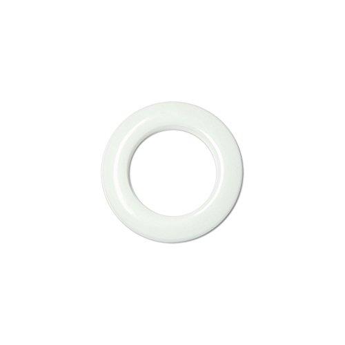 Oeillets à Clipser pour Rideaux Coloris Blanc - diamètre 35 mm - Lot de 8