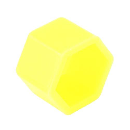 ZAORUN Autoteile 20 Stück Silikon Leuchtende Radkappe, Gelb