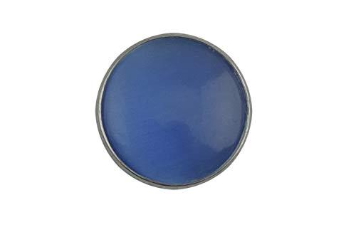 Magnetbrosche, Clip, Schmuckanhänger aus Edelstahl, 20mm, handgefertigt, einfarbig blau
