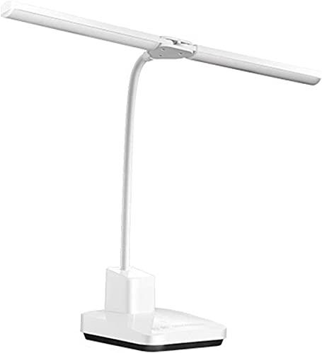 MQJ Lámpara de Mesa Stepless Dimmable Led Lámpara de Escritorio Lámpara de la Lámpara Doble Lámpara de Escritorio con 3 Modos de Color Lámpara de Mesa de Control Táctil con Puerto de Carga Usb para l