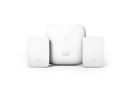 Cisco Business 140AC Starter Kit   Mesh Wi-Fi System   1 Access Point + 2 Mesh Extenders + 1 PoE Injector   Coverage up to 3000 Square feet   Limited Lifetime Protection (CBW140MXS-B-NA)