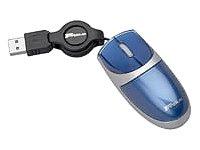 Targus Mini Optical Retractable Mouse - Ratón (Óptico, USB, 800 dpi, Azul)
