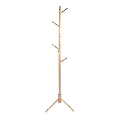 CHICIRIS Percha para Sombrero de Tela, Soporte de Madera para Sombrero de Abrigo Estilo árbol, diseño de pie Triangular para Dormitorio
