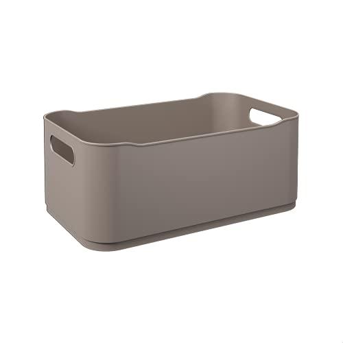 Coza Fit Cesta de Organização, Cinza (Warm Gray), Grande (30.5 x 18.5 x 12 cm)