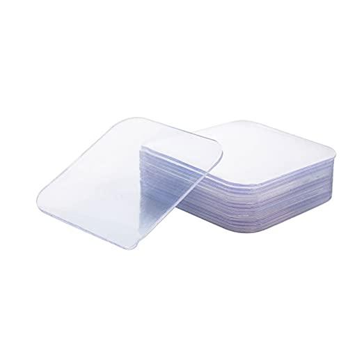 Velcro de Doble Cara, Pegatinas Antideslizantes para Cojines de Sofá Material de Gel Se Puede Cortar Arrancar Sin Dejar Rastros Adecuado para Vidrio Baldosas de Madera Alfombrillas de Metal de Mármol