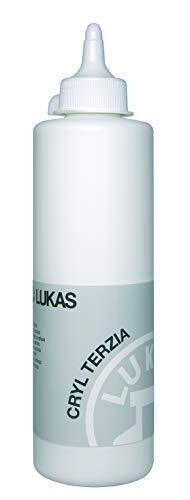 LUKAS CRYL TERZIA 500 ml - Acrylfarbe in Studien-Qualität - Farbton Titanweiß