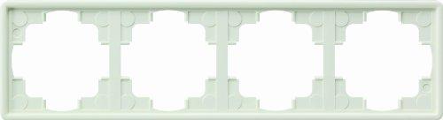 Gira Rahmen 021440 4fach S-Color reinweiss, Weiß