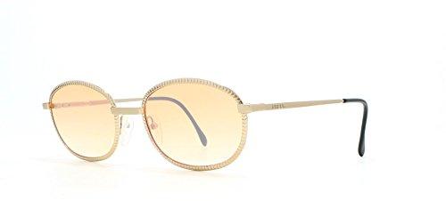 Gianfranco Ferre 136 2 Gold Vintage Sonnenbrille Oval für Damen und Herren