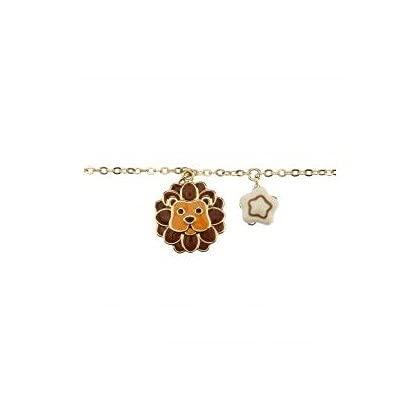 THUN - Bracciale da Donna con Segno Zodiacale Leone - Oroscopo - Gioielli Donna - Ottone Placcato Oro e Ceramica