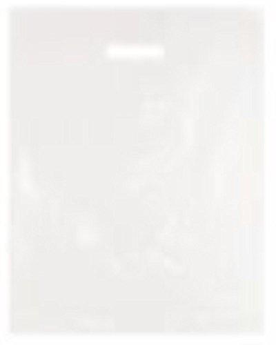 25 sacchetti resistenti in plastica polietilene trasparente, trasparente, dimensione grande: 38 x 45,7 x 7,6 cm, per shopping, boutique