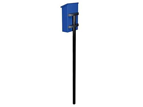 TOOLLAND - BG22003 Briefkastenpfosten, 4.5 cm Durchmesser x 1.5m Länge, Schwarz 175642