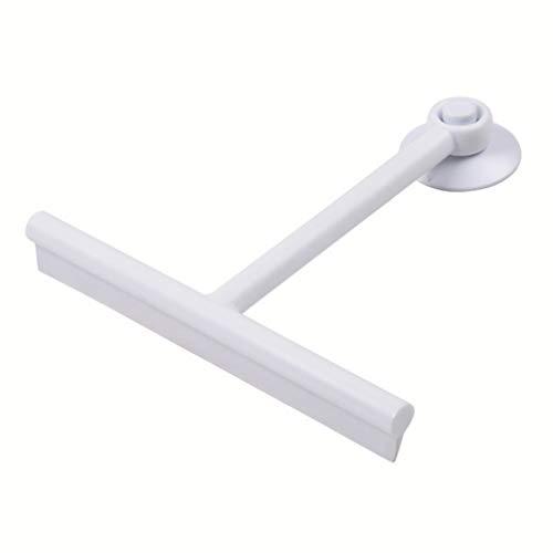 WINOMO Portable Aspiration Raclette Douche Nettoyant pour Vitres Voiture Verre de Vitre Miroir Nettoyage Racleur Blanc