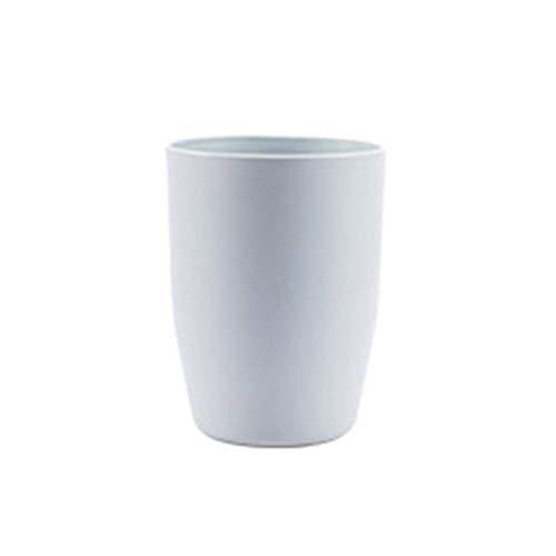 AnXiongStore Baño de plástico Respetuoso con el Medio Ambiente Diseño de Boca Grande Soporte para Cepillo de Dientes Taza Parejas Durable Lavar la Botella de la Taza del Diente