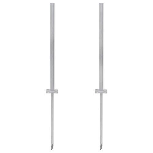 Guuanton reservepoten van staal, 2 stuks, 115 cm, zilverkleurig, artikel voor beslag en hekken, accessoires voor poorten en hekken