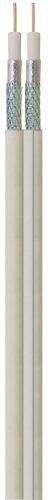 Transmedia KH9-100DRL Koaxialkabel (>95dB, 2-Fach, 75 Ohm, 1,1mm/Cu, Durchmesser: 2x6,8mm/PVC)