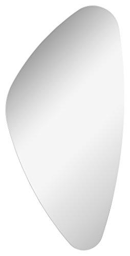 Fakelmann Organic Mirrors/wandspiegel met bevestiging/afmetingen (b x h x d): ca. 41 x 76 x 2 cm, hoogwaardige badkamerspiegel, moderne badkamerspiegel, breedte 40 cm.