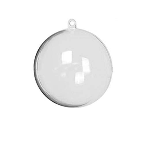 Jannyshop Transparent Plastic Fillable Ornaments Ball -120mm Trims Clear Ornaments Balls