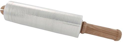 SCH-fix Verpackungs-Folie transparent   Stretchfolie zum bündeln   250 mm   22 Stück Wickelfolie + 1 Hand-Abroller