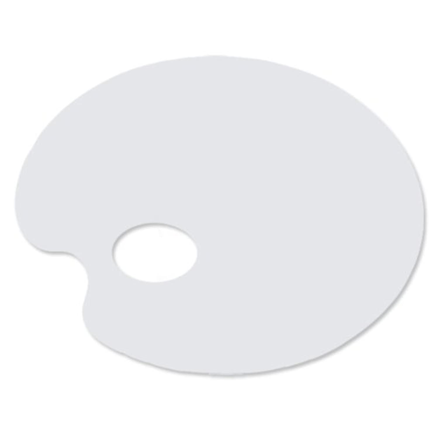 9-inch By 7-inch White Acrylic Palette