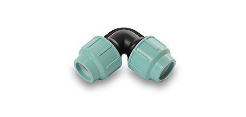 Preisvergleich Produktbild PP Bogen 20, 25, 32, 40, 50, 63, 75 mm PE-Rohr 10 bar Verbinder Verschraubung Winkel Bewässerung (32 mm x 32 mm)