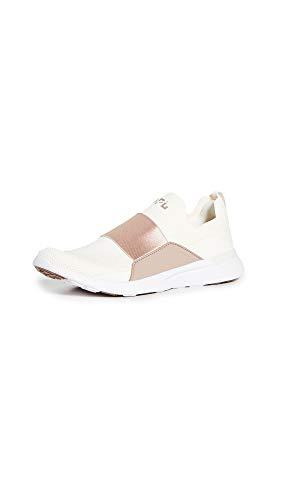 APL: Athletic Propulsion Labs Women's Techloom Bliss Sneakers, Pristine/Almond/White, 11 Medium US