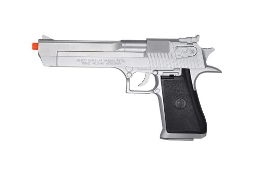 Soft Air Desert Eagle .44 Magnum Spring Powered Airsoft Pistol with Hop-Up, Silver, 170-175 FPS (90221)