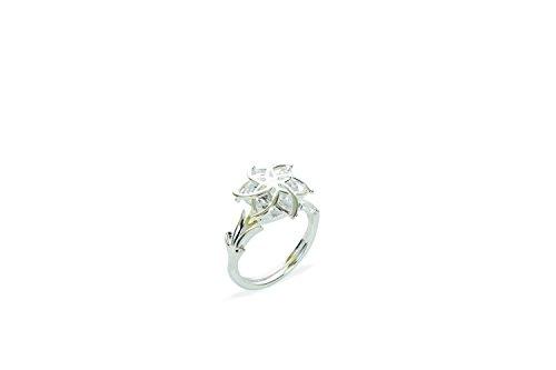 The Hobbit Jewelry - Anillo de Plata con Circonita, Talla 16 (17,84 mm)