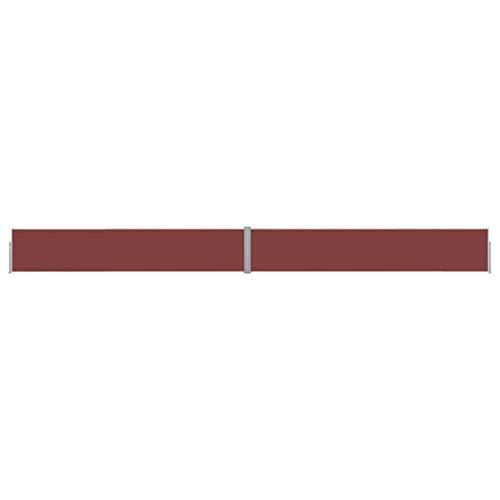 vidaXL Seitenmarkise Ausziehbar UV-beständig Sonnenschutz Sichtschutz Windschutz Seitenrollo Markise Balkon Garten Terrasse 140x1200cm Braun