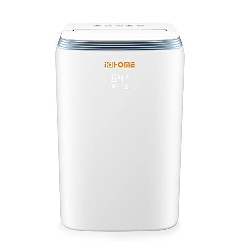 i@HOME Mobil Klimagerät R290HP 9000BTU, Klimaanlage 3in1 Kühlung Ventilator Luftentfeuchter, Mit Abluftschlauc, verwenden Ökologisches Kühlmittel R290