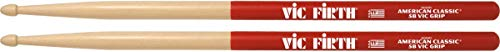 Vic Firth American Classic® Series Drumsticks - 5BVG - American Hickory - Wood Tip - Vic Grip
