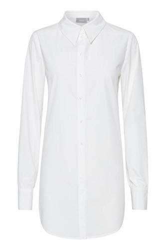 fransa Damen Bluse Langarm Hemdbluse, Farbe:Weiß (Antique), Größe:M