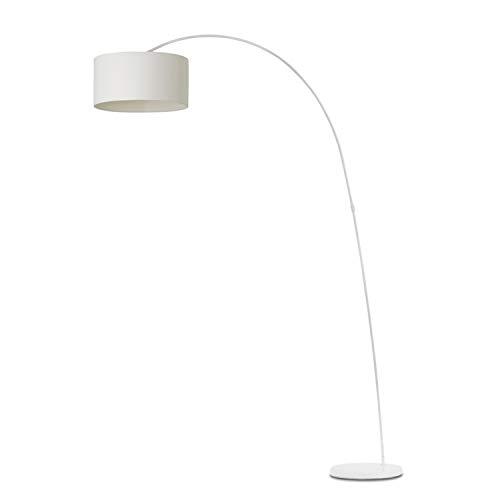 Faro Barcelona Papouasie 68462 Lampe sur pied en métal avec abat-jour en textile Blanc 60 W